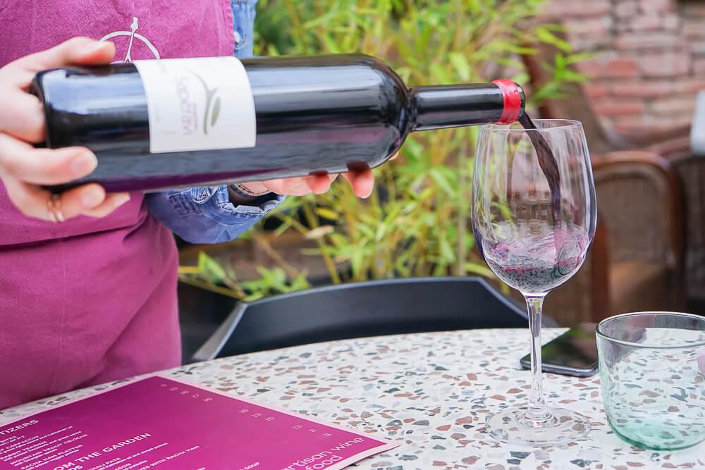 g.Vino Hotel & Restaurant Tiflis - erster georgischer Wein