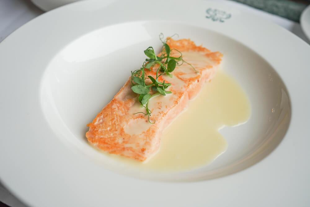 Confierter Lachs mit gemischtem Salat - Mit gesunden Fetten in den Frühling