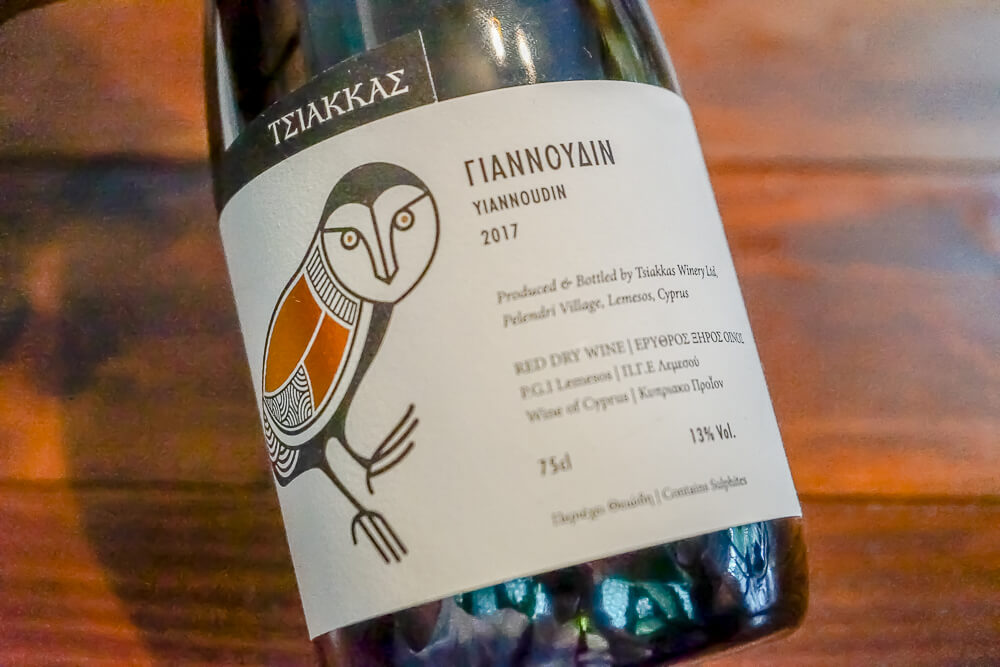 Tsiakkas Weingut Zypern - Yiannoudin 2017