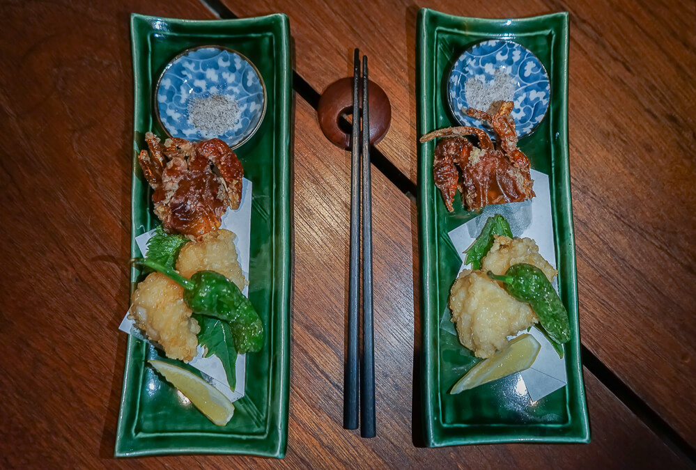Zenkichi Restaurant Berlin - Frittierte Krabbe & Fisch