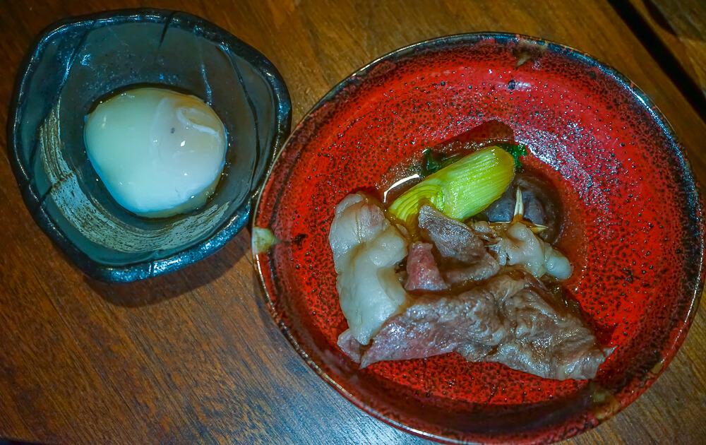 Zenkichi Restaurant Berlin - Onsenei mit Kobebeef