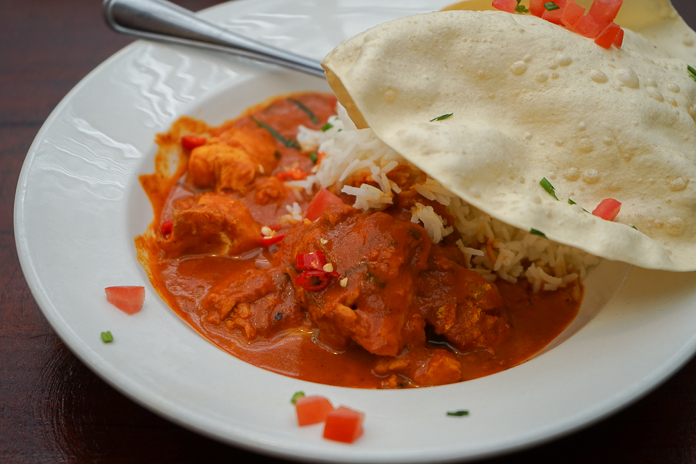 Cafe Roux, Noordhoek - scharfes Fisch Curry mit Reis