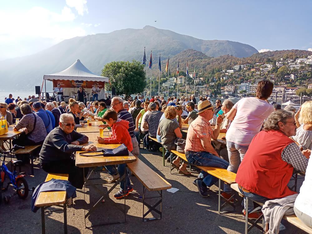 Kastanienfest in Ascona - Essen & Trinken mit Aussicht