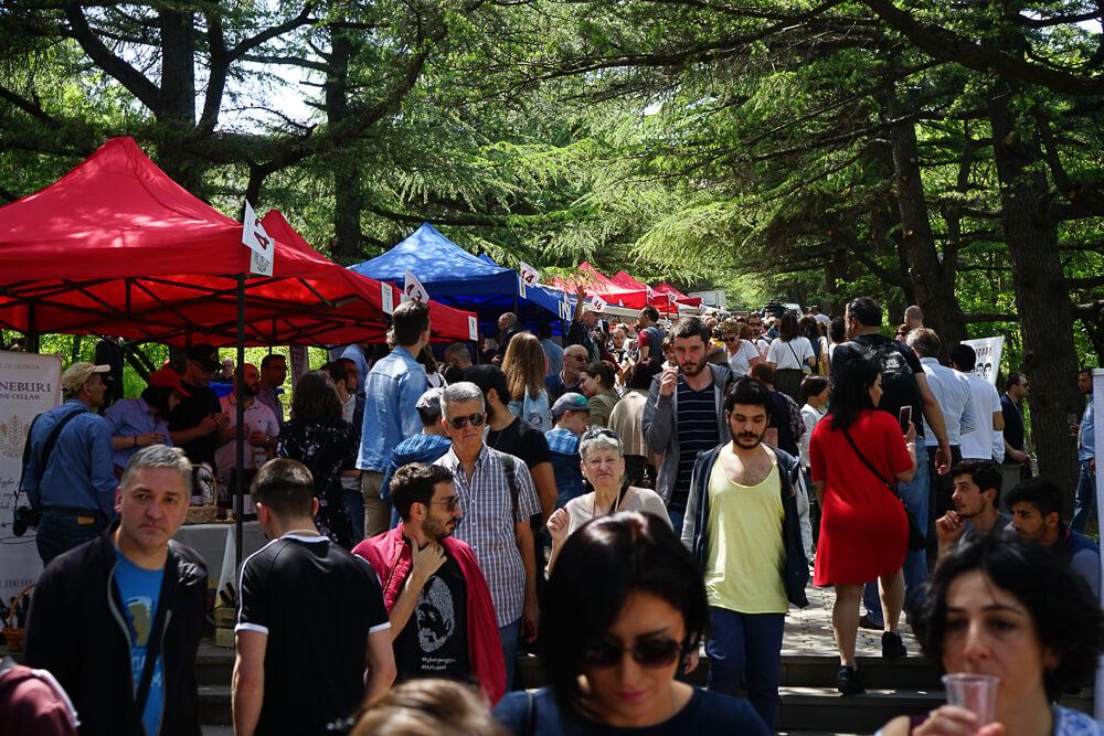New Wine Festival in Tbilisi - dichtes Gewühle nach dem Mittagessen