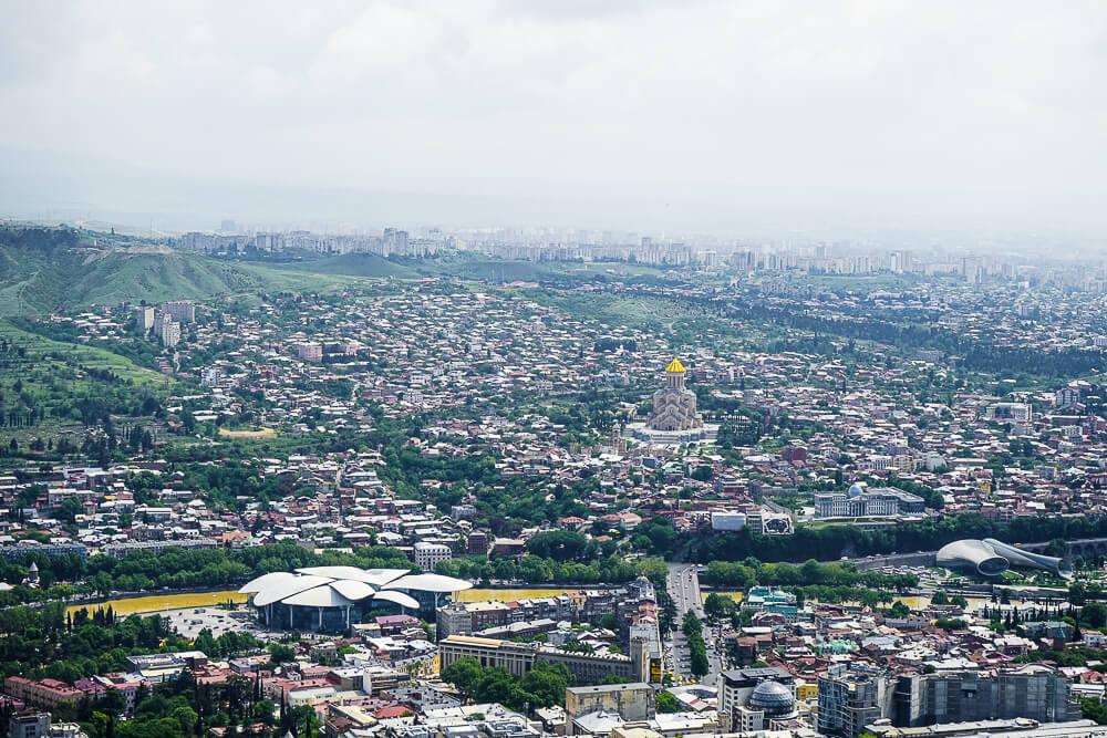 New Wine Festival in Tbilisi - großartiger Ausblick auf die Stadt