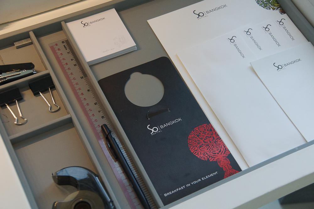 SO Sofitel Bangkok - guter Schreibtisch für Business Gäste
