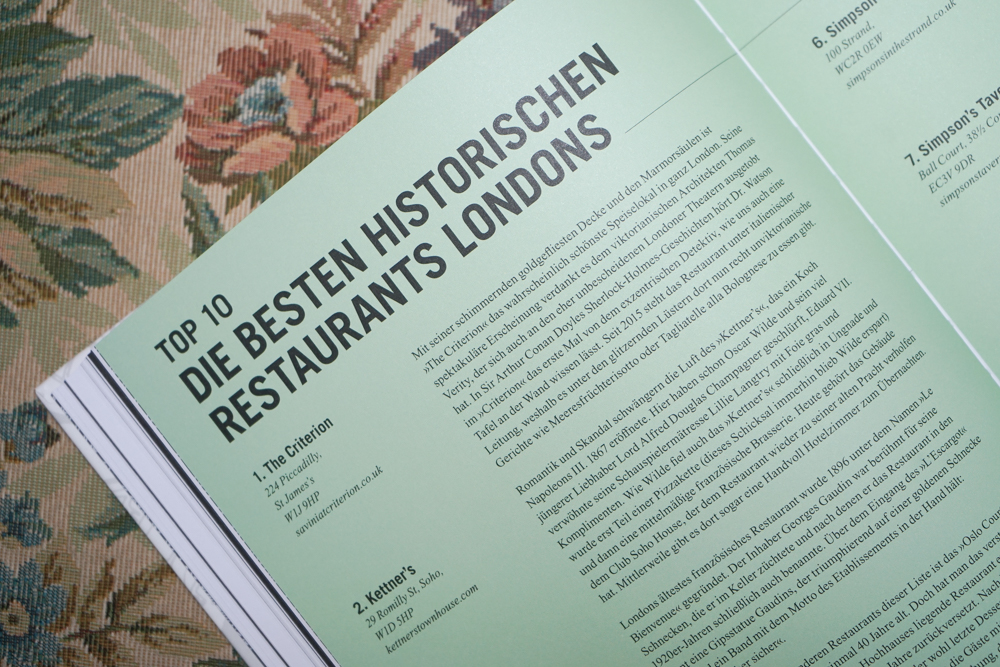 Made in London, Leah Hyslo - Londons historische Restaurants