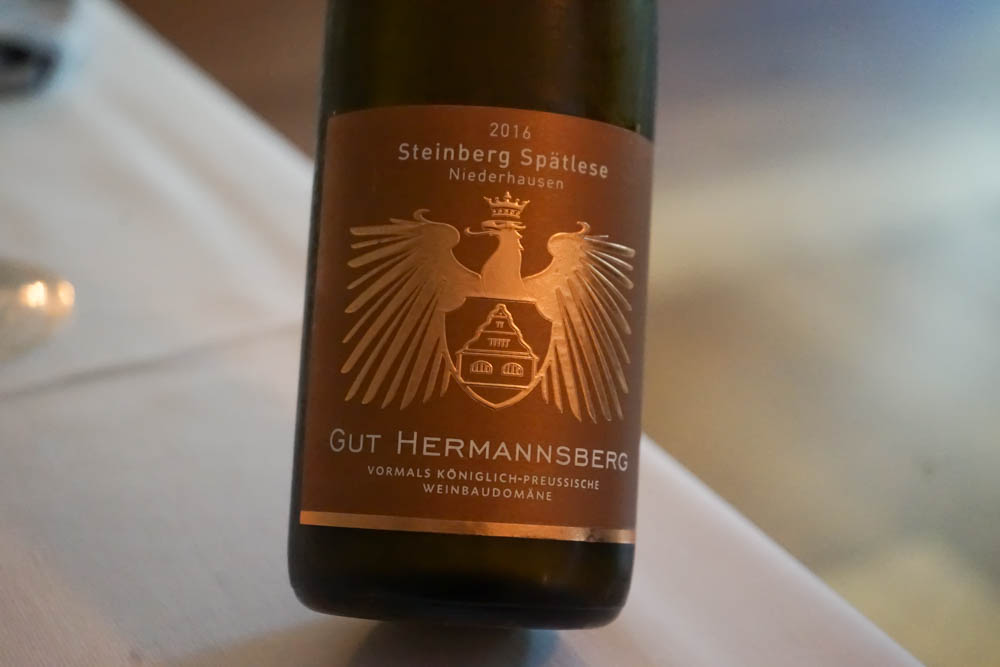 Gut Hermannsberg, Steinberg Spätlese 2016