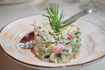 Mindal Café, St. Petersburg - Salat mit Mandeln