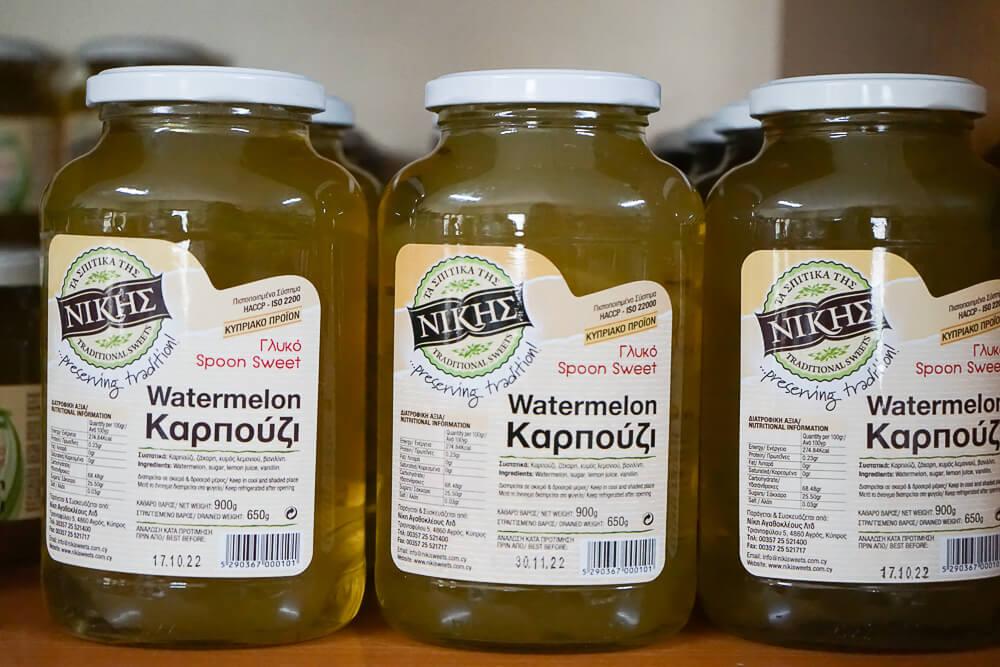Nikis Sweets Zypern - Spoon Sweet Wassermelone