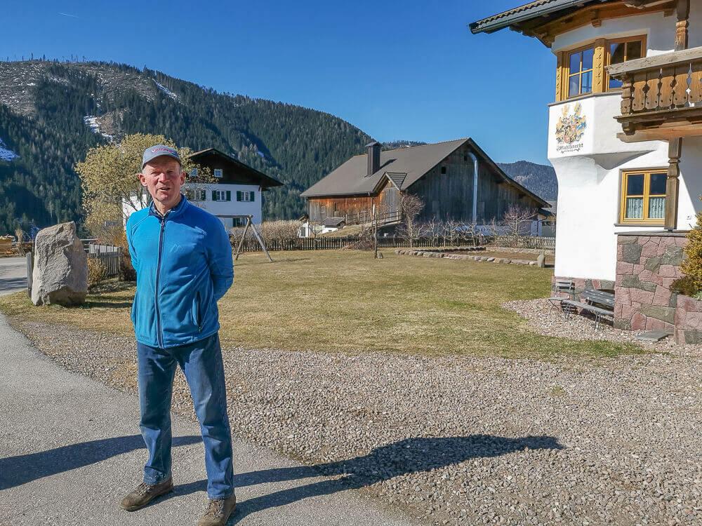 Stilfser Käse, Südtirol - Bauer der Milchlieferent ist
