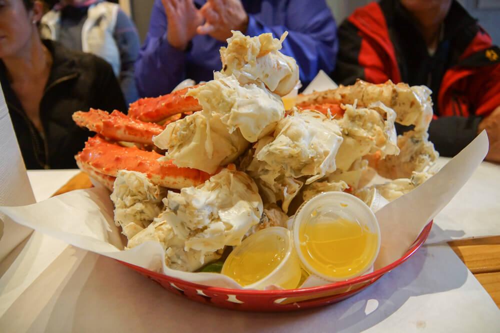 Tracy's King Crab Shack, Juneau - die schiere Größe