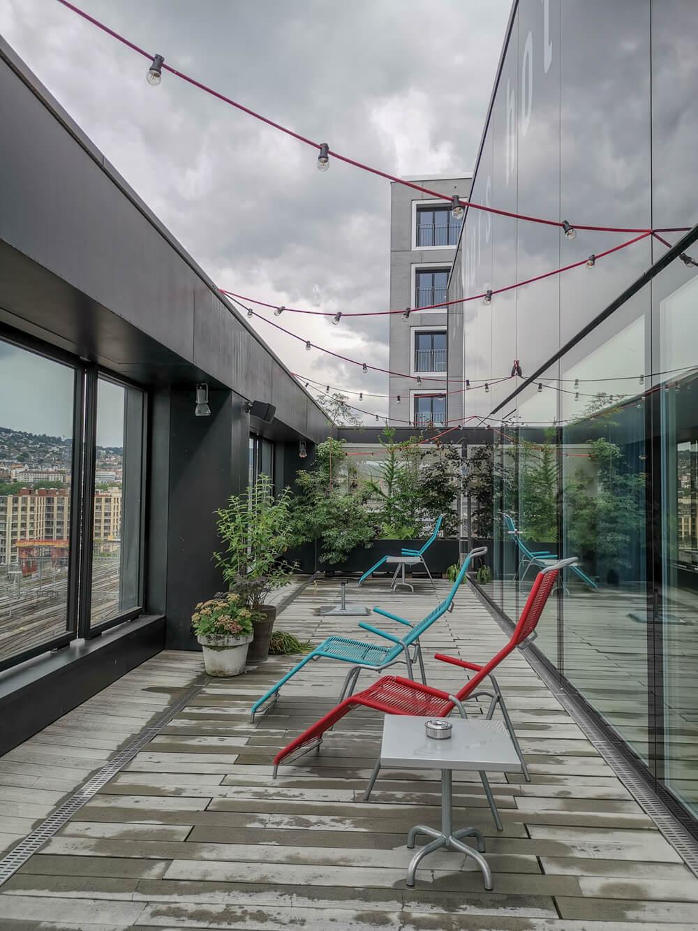 25Hours Hotel Zürich Langstrasse - Sauna und Gym mit Ausblick