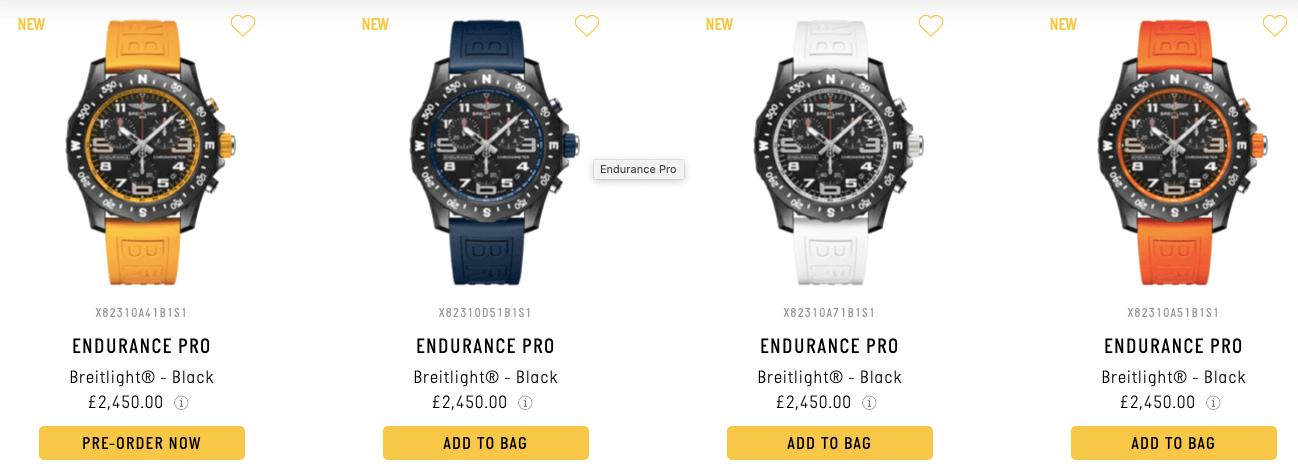 Breitling Emergency Luxus Uhren