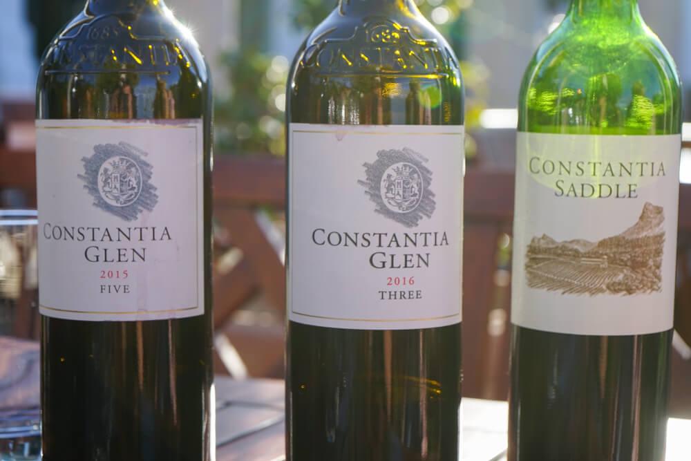 Constantia Glen Weingut, Südafrika - Constantia Saddle und andere Weine