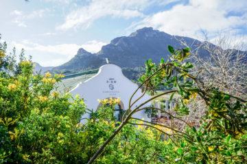 Constantia Glen Weingut, Südafrika - Weingut und Berge