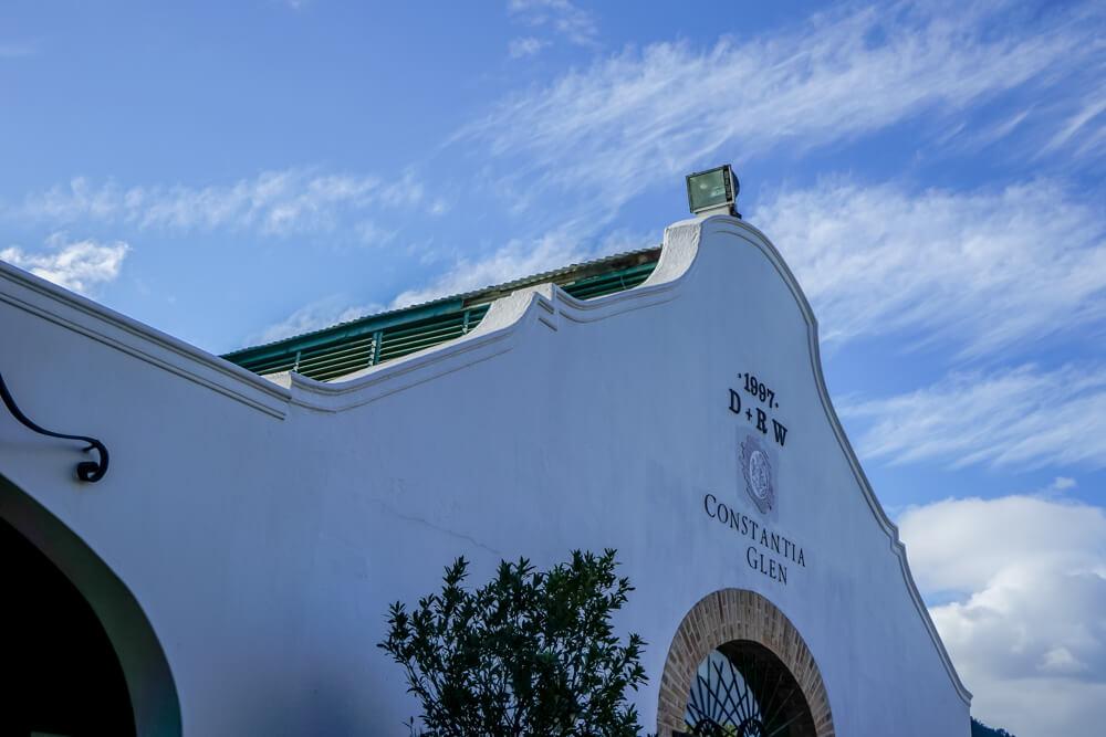 Constantia Glen Weingut, Südafrika - Weinhalle Eingang