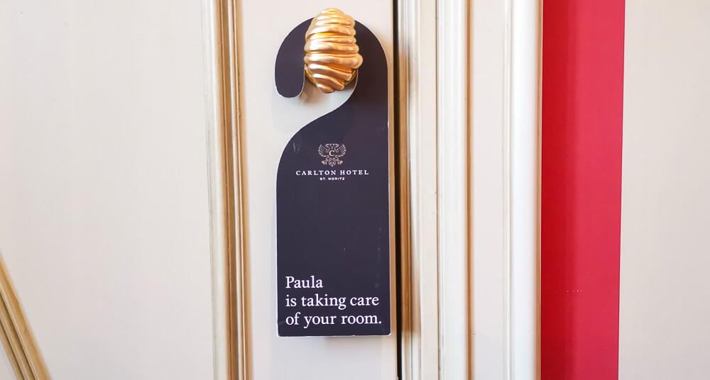 Carlton Hotel St.Moritz - who is cleaning your Room?