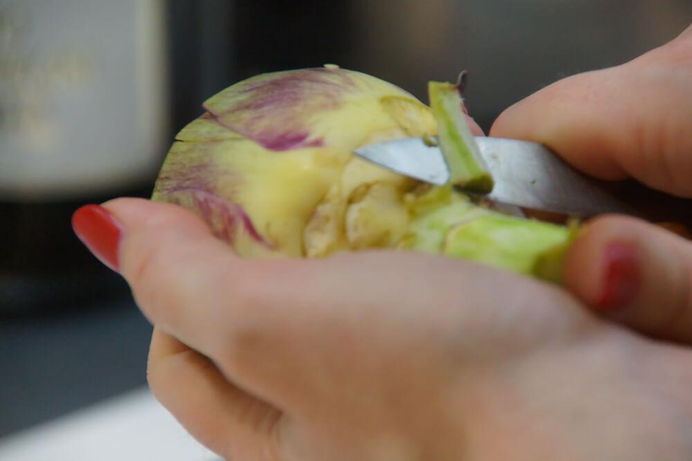 École de Cuisine Ducasse, Paris - Artischocken putzen