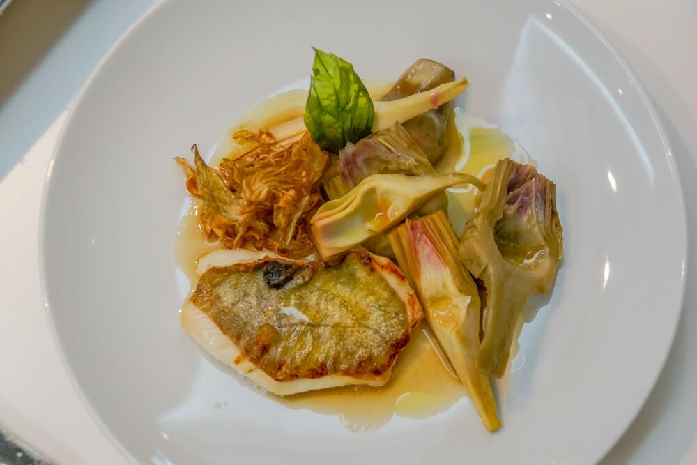 École de Cuisine Ducasse, Paris - Petersfisch mit dreierlei Artischocken