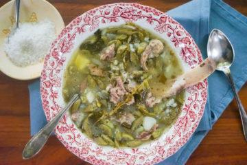 Grüne Bohnensuppe mit Rippchen