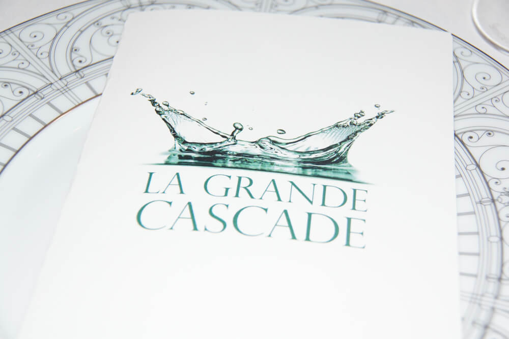 Le Pavillon de la Grande Cascade, Paris - Speisenkarte