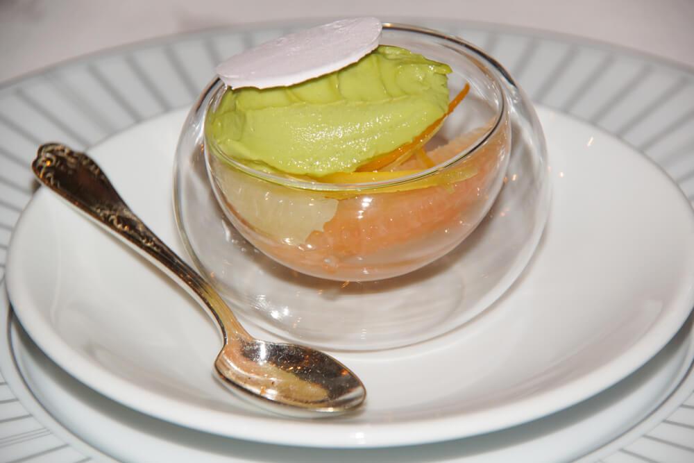 Le Pavillon de la Grande Cascade, Paris - Zitrusfrüchte, Avocado -tolle Kombination