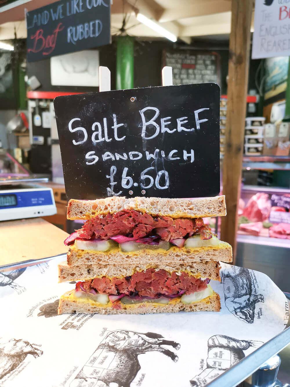 Borough Market, London - Beef Sandwich ahead