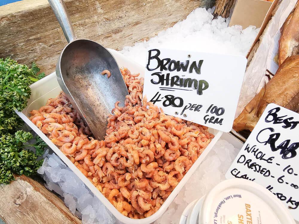 Borough Market, London - Brown Shrimps