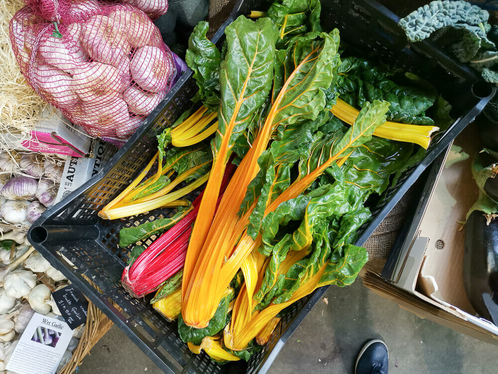 Borough Market, London - Farbenfrohes Gemüse