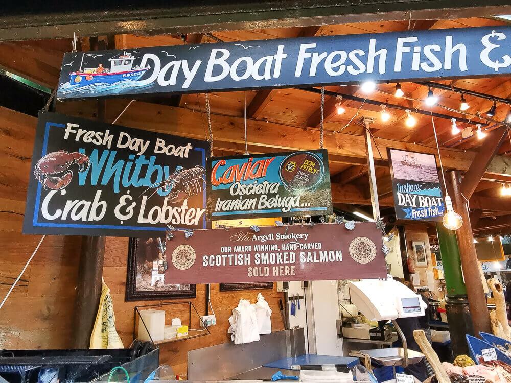 Borough Market, London - Fisch Stand