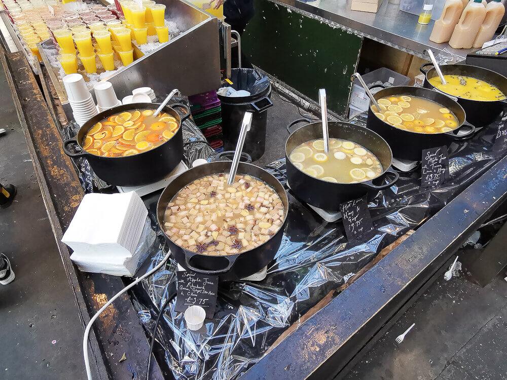 Borough Market, London - Frische Säfte