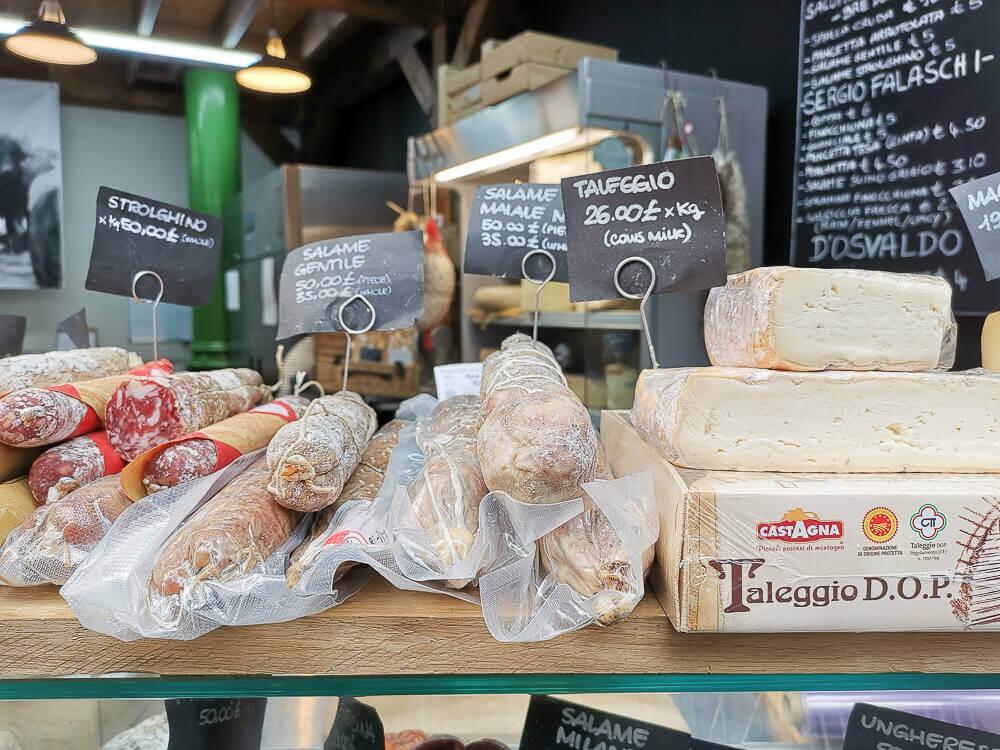 Borough Market, London - Käse und Salami