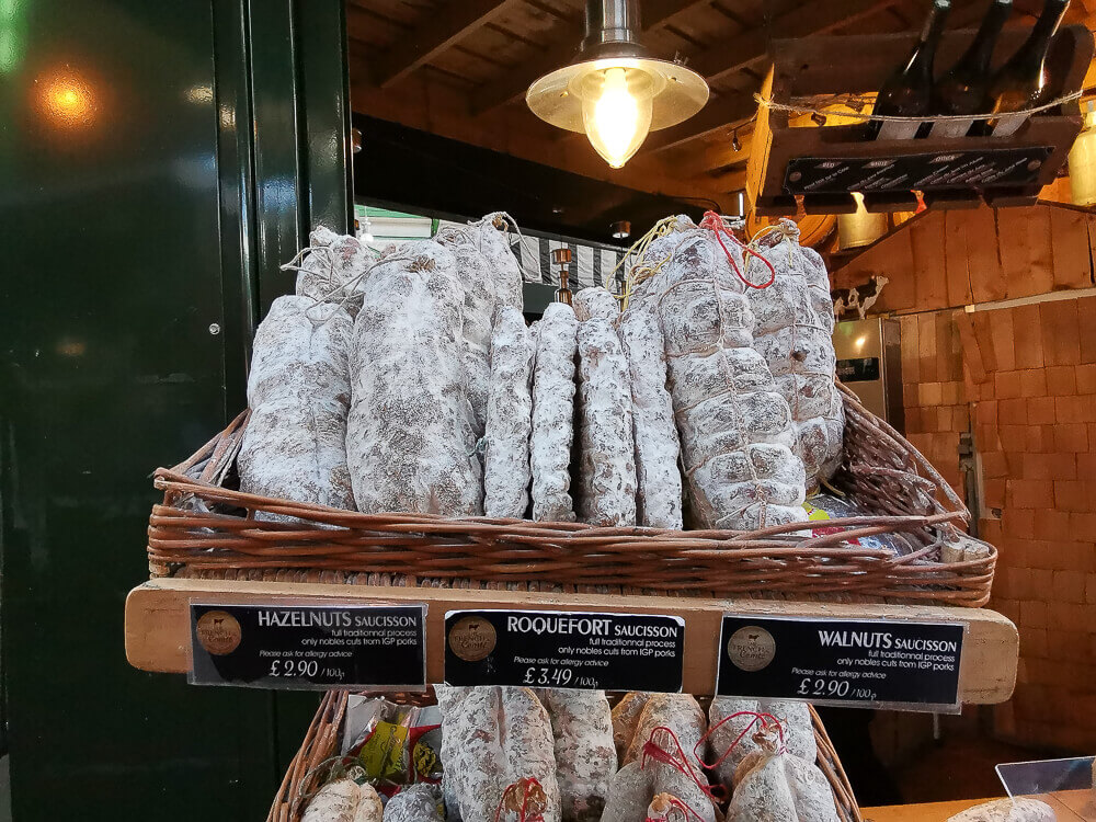 Borough Market, London - Salami import