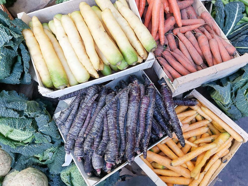 Borough Market, London - Urkarotten, köstlich farbenfroh