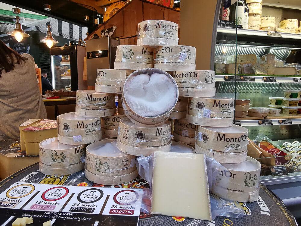 Borough Market, London - importierter Käse