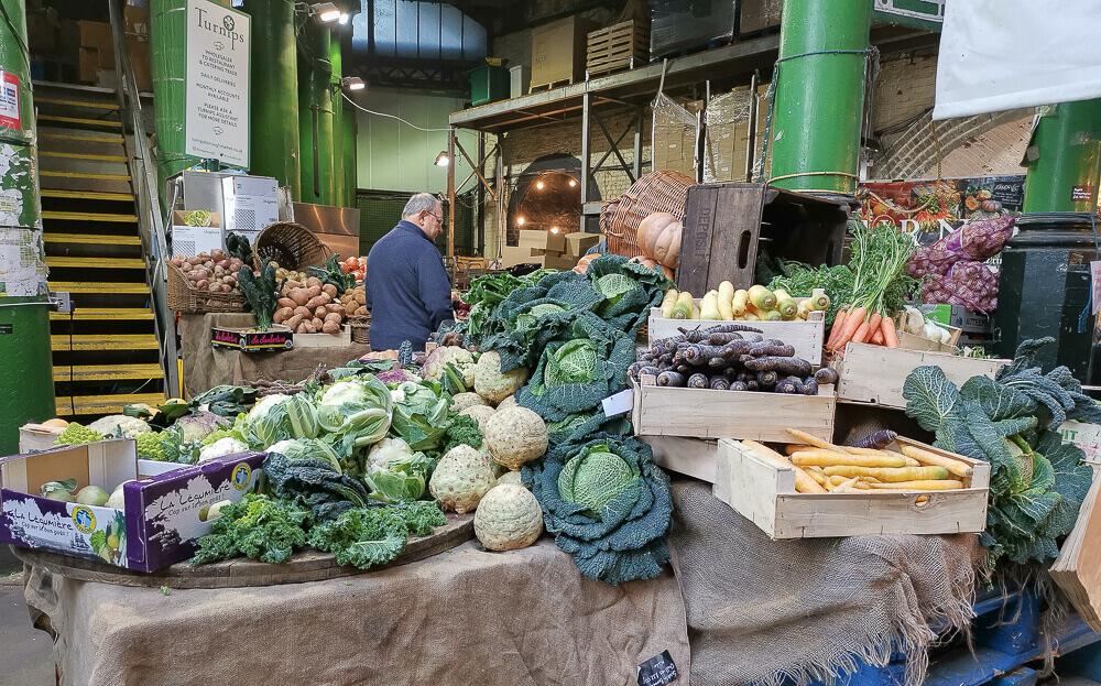 Borough Market, London - lokales Gemüse