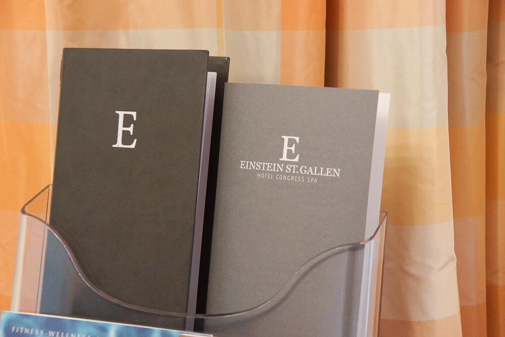 Hotel Einstein St. Gallen - Menü