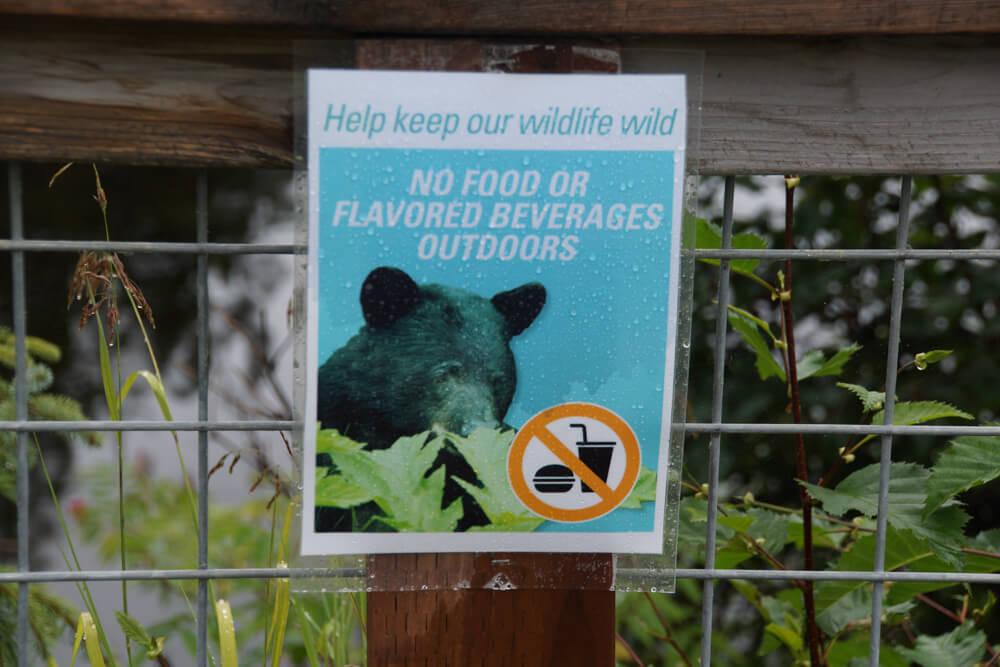 Mendenhall-Gletscher - Dont feed the Bears