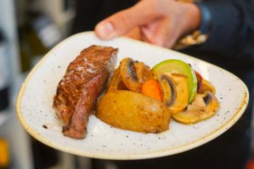 La Casa del Ray, Málaga - Strak, Kartoffel, Gemüse vom Grill
