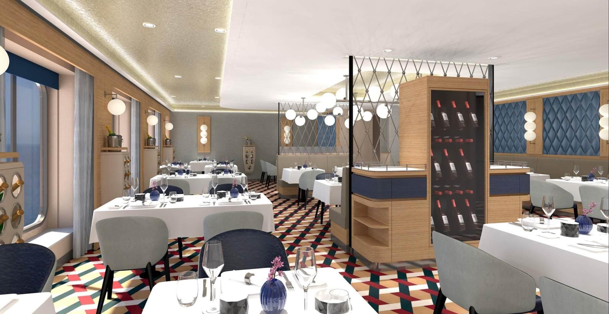 Französisches À-la-carte-Restaurant
